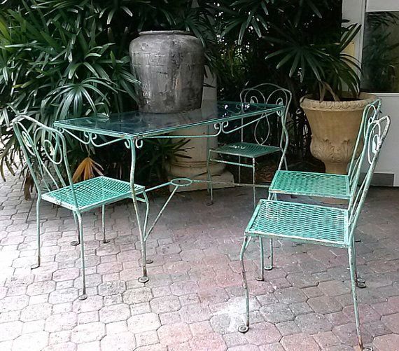 1950s Salterini Table And Chairs By Floridamodern33405 On Etsy