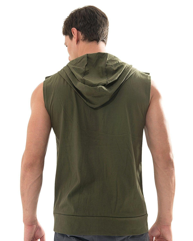 493c0a24863cd Casual Sleeveless Zip Up Hoodie Athletic Active Sweatshirt Vest Top ...