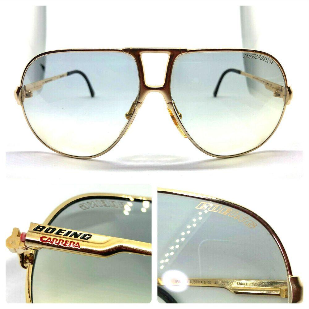 42c8f69fc81de Carrera Boeing Collection 5700 40 60-12 small 125 Vintage Sunglasses GOLD