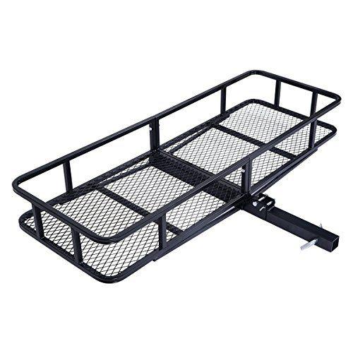 "Trailer Hitch Luggage Rack Custom Goplus Folding 60"" Cargo Carrier Luggage Rack Hauler Truck Or Car 2018"