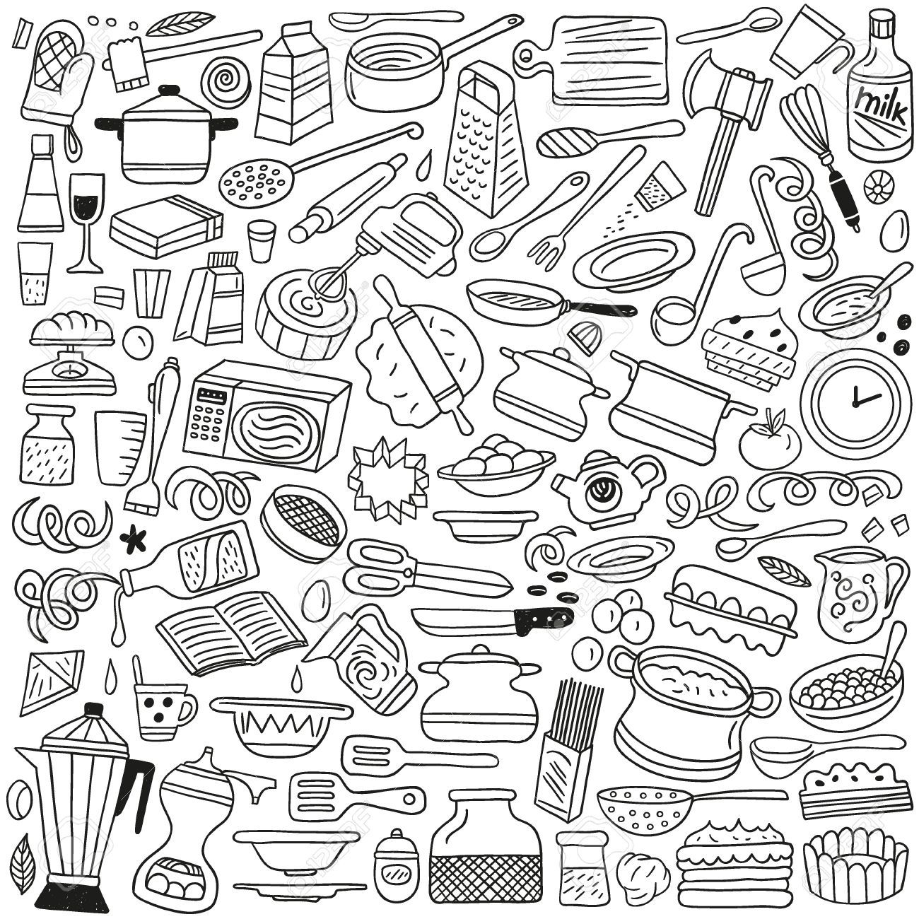 Baking doodle illustrations google search