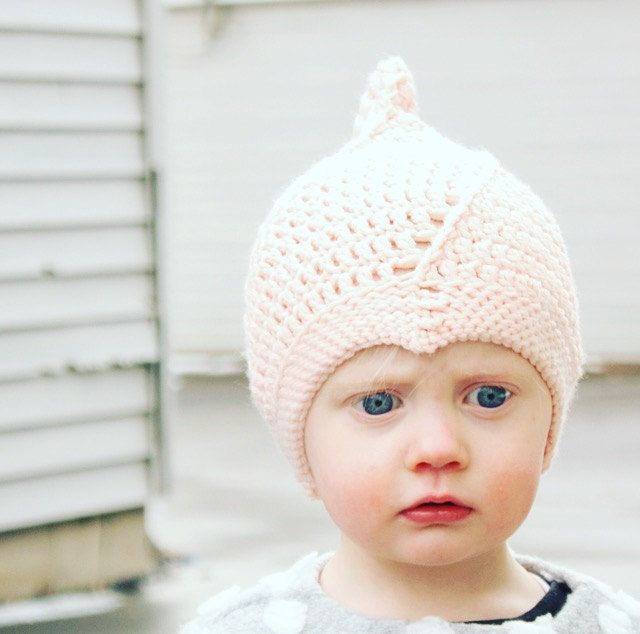 Pixie Bonnet Crochet Hat Pattern, Baby Hat, Boy or Girl, Beanie, The ...