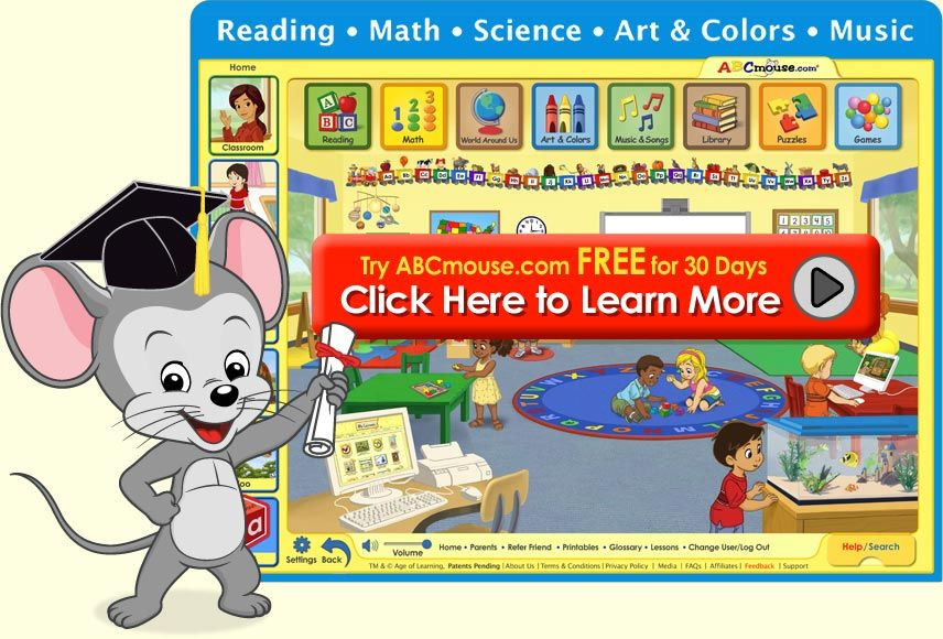 FREE 30 day membership to ABCmouse.com | Early Learning Activities ...