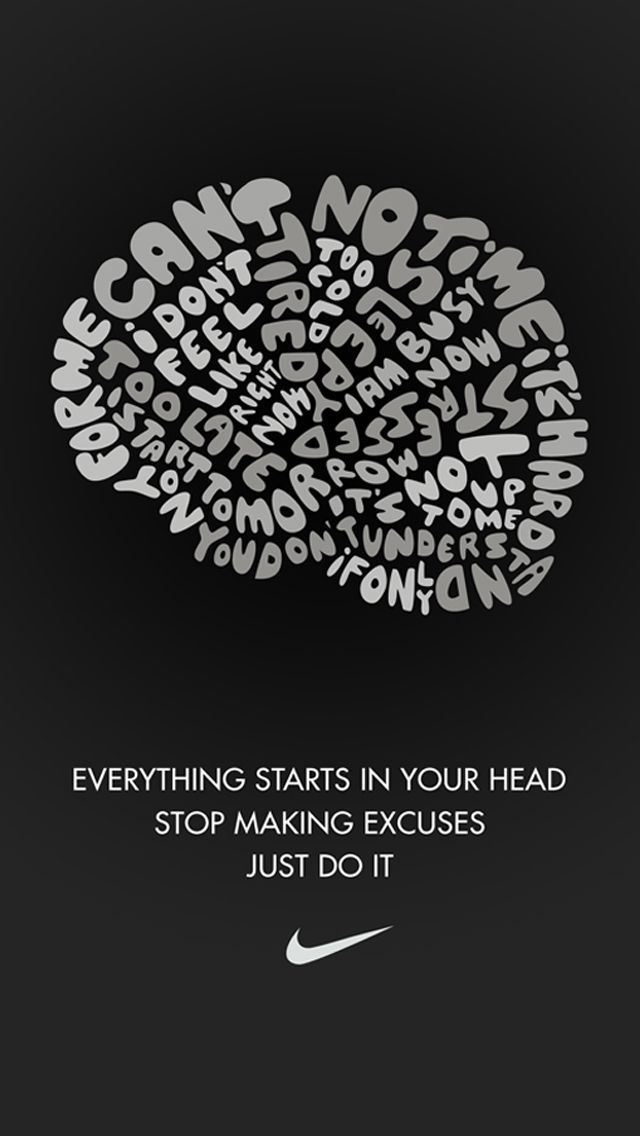 Motivation Quotes Black Nike Just Do It Iphone 5 Wallpaper