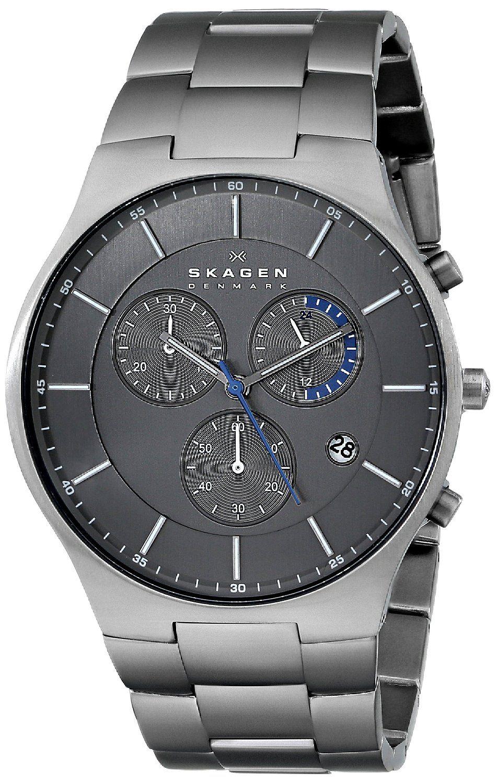 Skagen Men s SKW6077  Balder  Titanium Watch with Link Bracelet ... 2b43ce8a1011