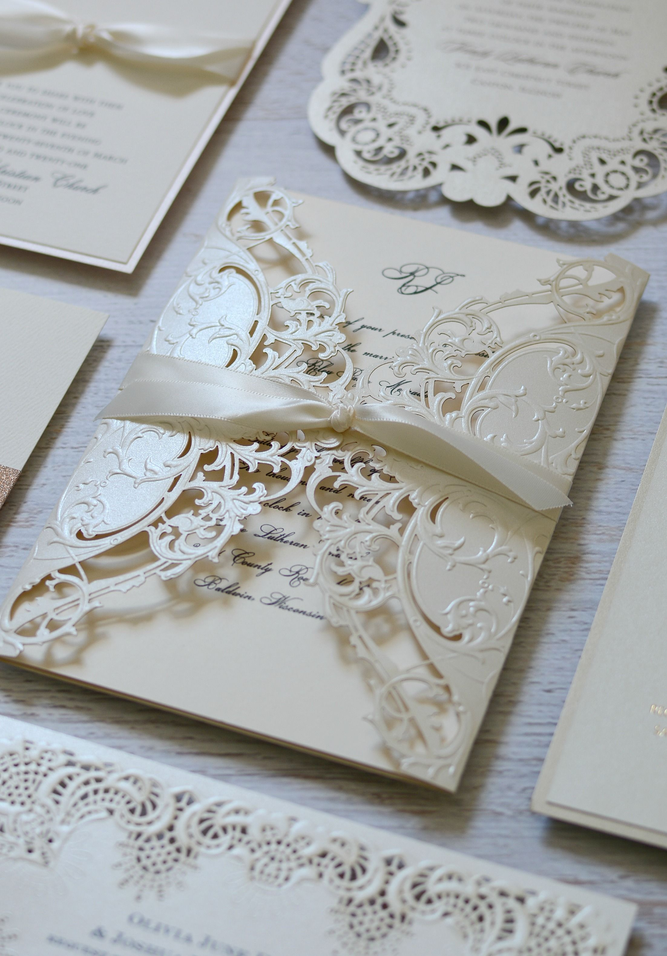 Top 10 Laser Cute Elegant Wedding Invitations