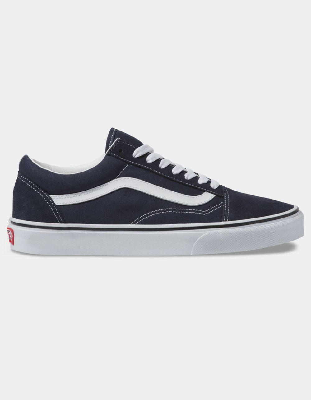 Vans Old Skool Night Sky True White Shoes In 2020 Vans Old Skool White Shoes Vans Old Skool Navy