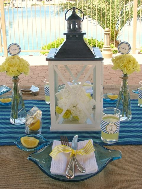 nautical baby shower baby shower party ideas nautical party theme rh pinterest com