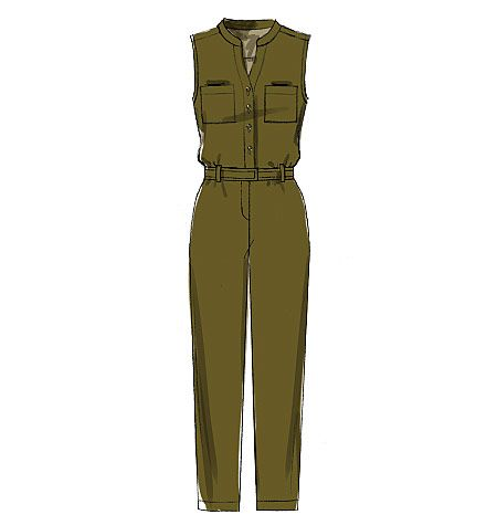 M7330 Misses ButtonUp Rompers and Jumpsuits