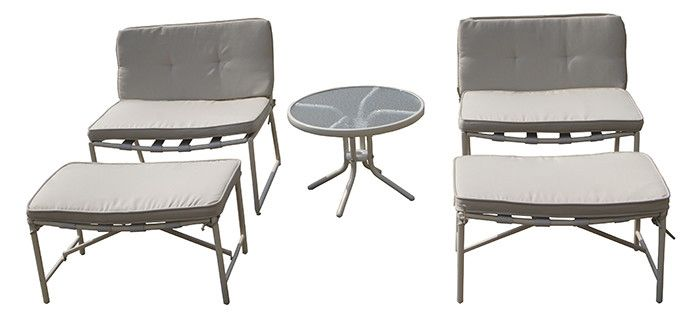 Della 5 Piece Seating Group with Cushions