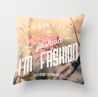 Im Fashion pillow  decorative throw pillow Coco by BasicDesign, $40.00