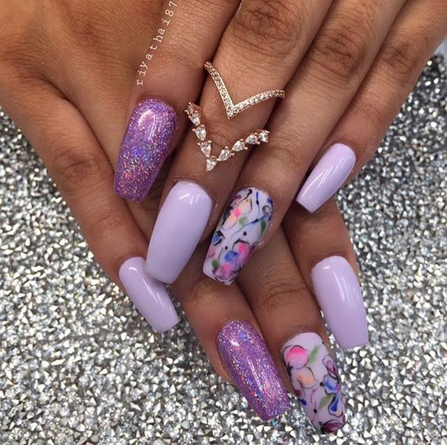 Follow: @Tropic_M for more ️   Shiny nails designs, Square