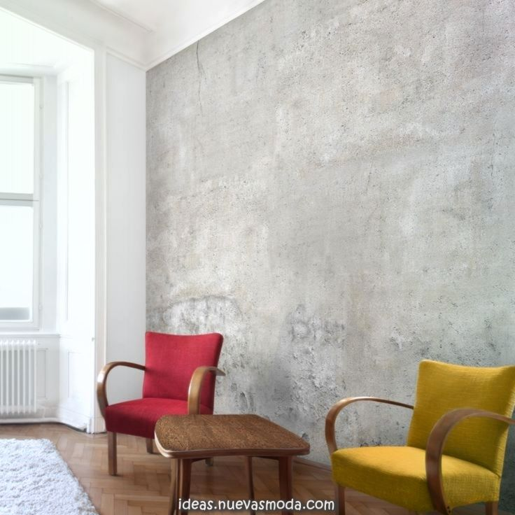 Estupendo Papel Pintado No Tejido De Hormigon Lamentable Z Concrete Wallpaper Wallpaper Living Room Living Room Modern