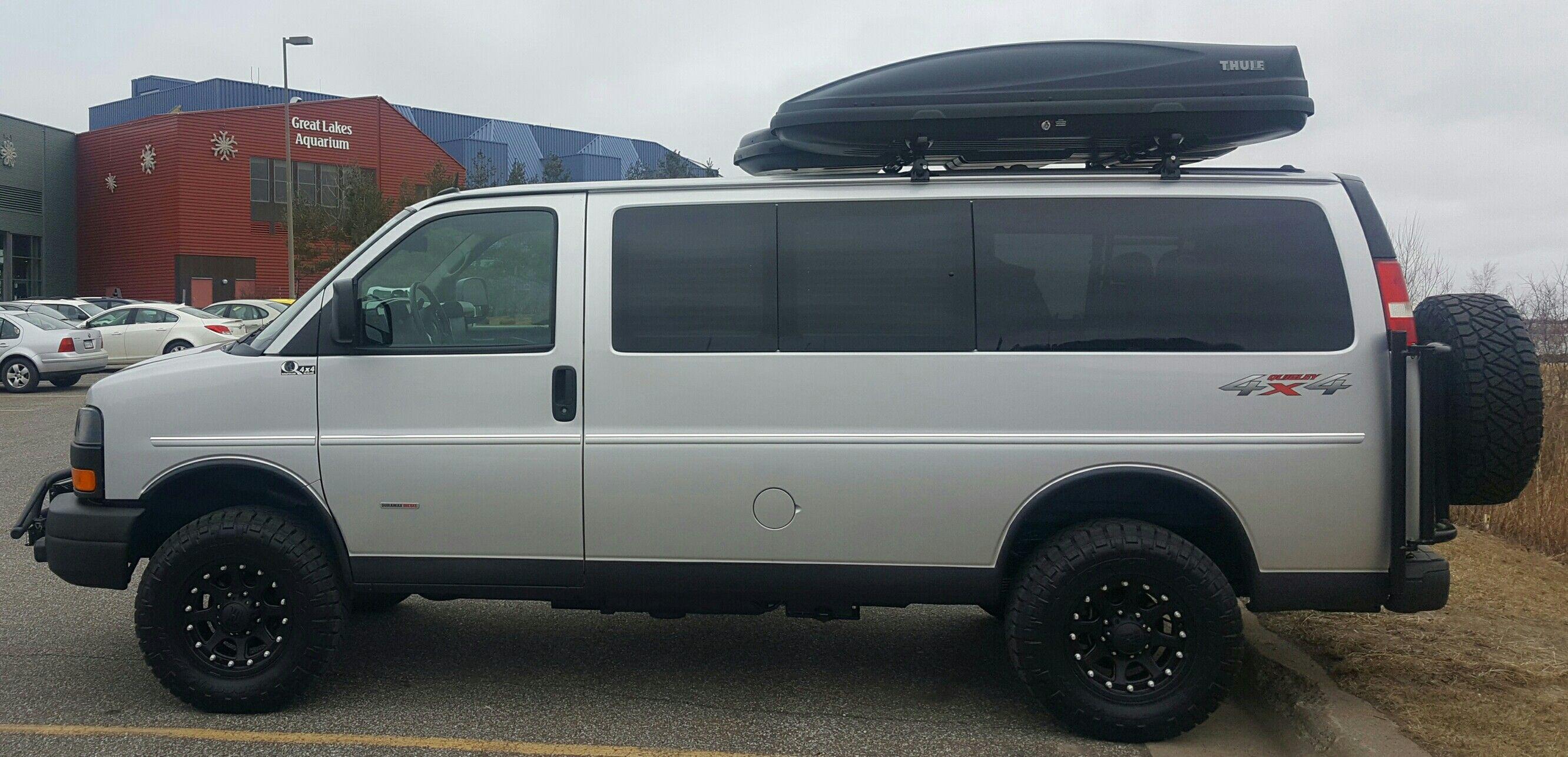 gmc 3500 duramax quigley 4x4 lifted aluminess vans pinterest rh pinterest com