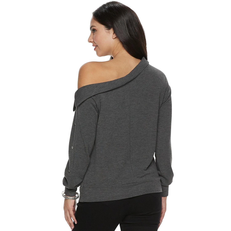 c9229b6450f Women's Jennifer Lopez Off-Shoulder Snap Sweatshirt #Lopez, #Jennifer,  #Women, #Sweatshirt