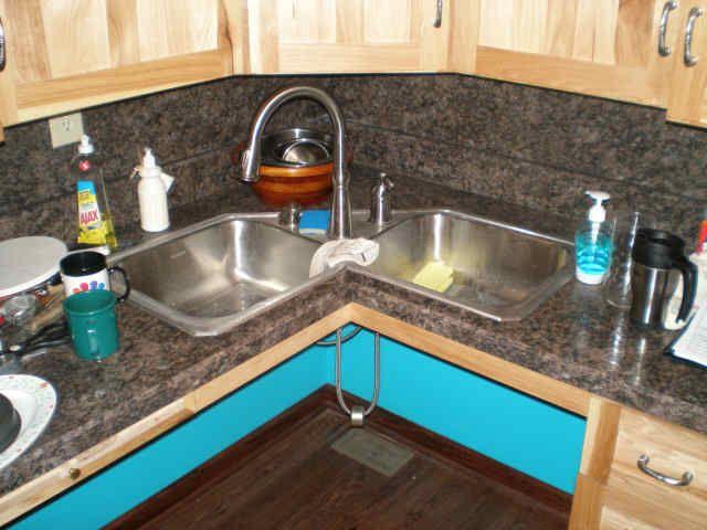 Would A Corner Sink Make That Useless Corner Be More Functional Corner Sink Kitchen Kitchen Sink Design Corner Sink