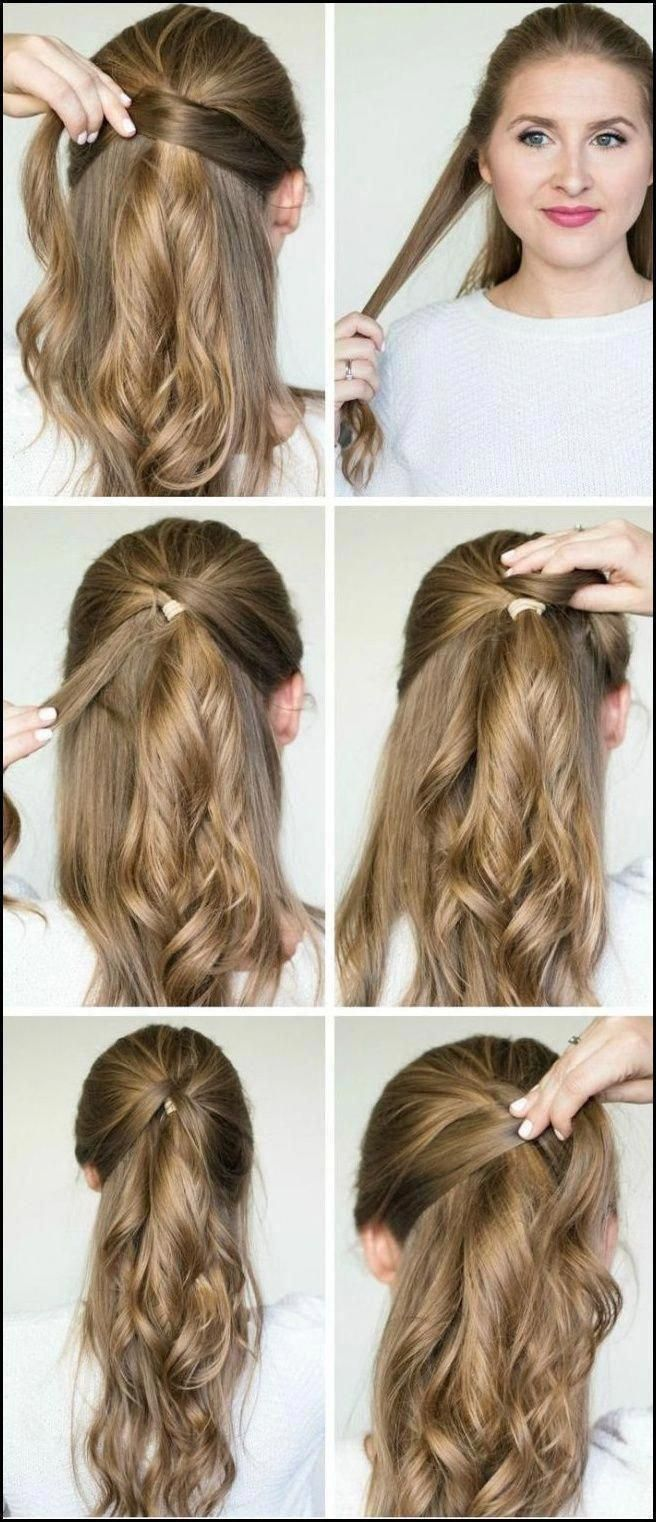 easy hairstyles at home for short hair #Easyhairstyles | Party hairstyles for long hair, Easy ...