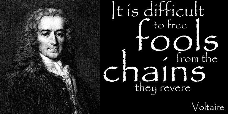 It Is Difficult To Free Fools From The Chains They Revere Voltaire Inspirational Words Poetry Quotes Revere