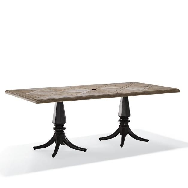 avery teak top dining table teak patios and house rh pinterest com