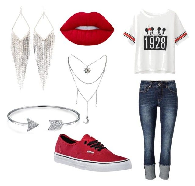 """""""Disney Red & White"""" by oasymons on Polyvore featuring Uniqlo, Lime Crime, Vans, Jules Smith and Bling Jewelry"""