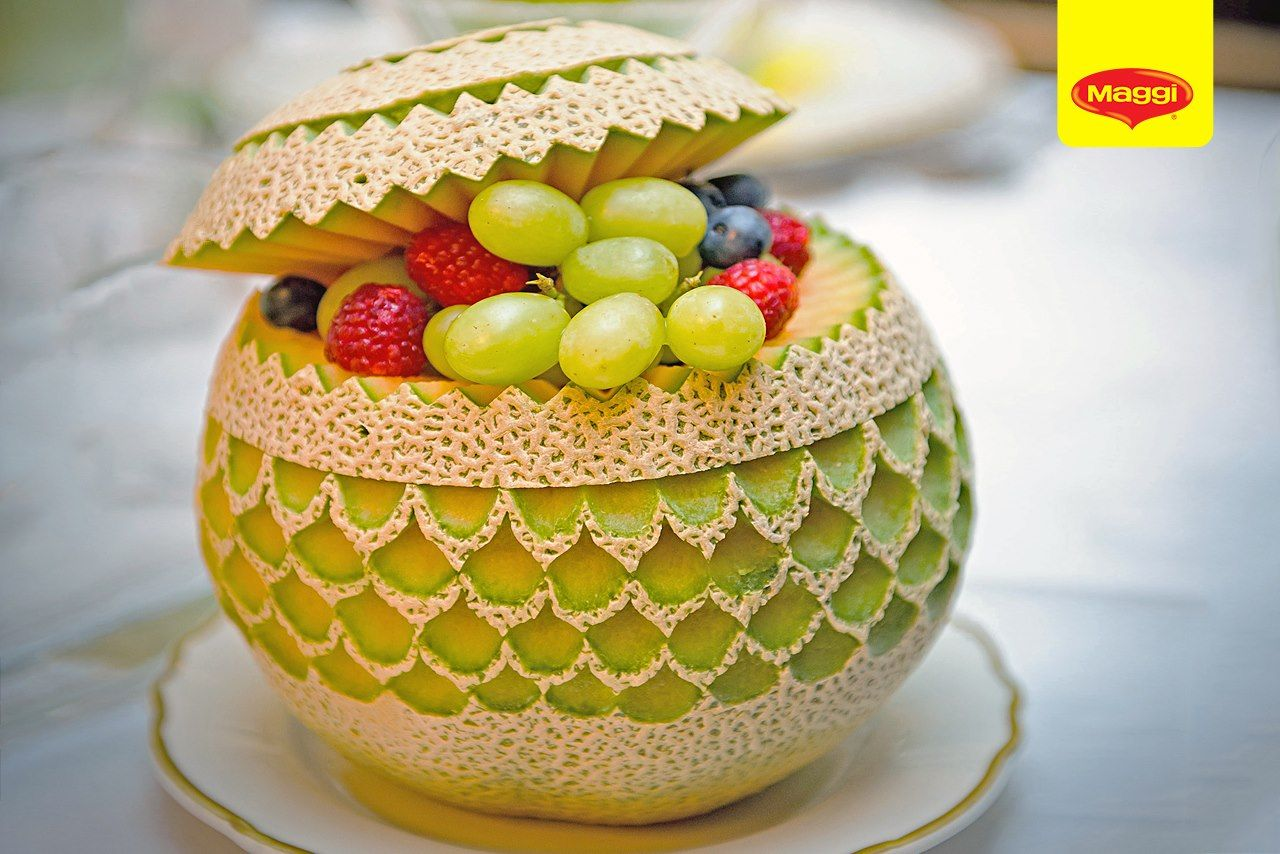 Garnishing fruit veg on pinterest food art