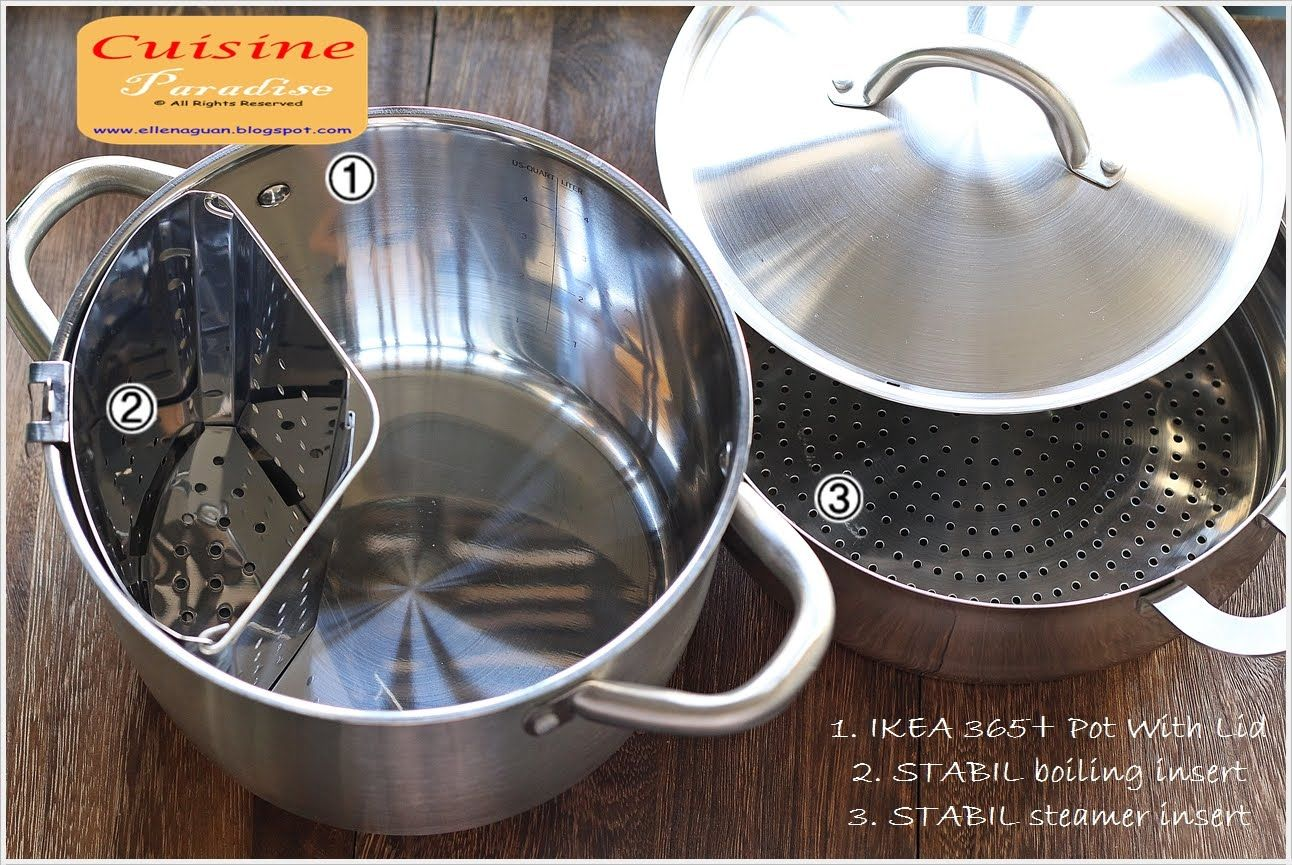 2 In 1 Dishes Recipes Using Ikea 365 Pot Plus Stabil Steamer Food Dishes Ikea Pressure Cooker Recipes