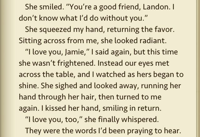 a walk to remember book quotes