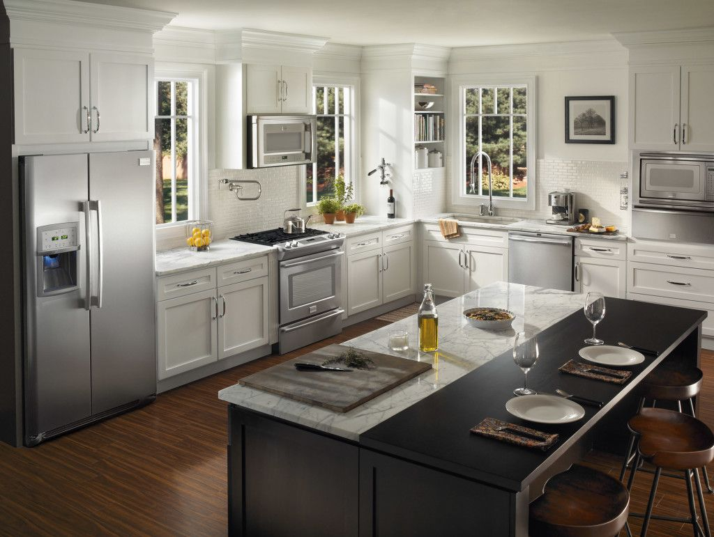 Modish Kitchen Renovation Ideas With Black And White Cabinet With Alluring Kitchen Remodel Ideas Inspiration