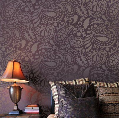 Paisley Allover Stencil Pattern - Reusable stencils for DIY decor