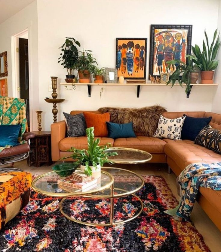 Modern Bohemian Style Eclectic Living Room Eclectic Decor Modern Eclectic Home