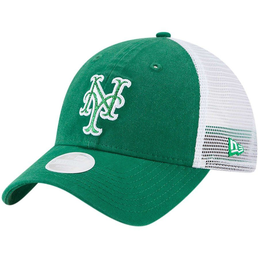 Women s New York Mets New Era Green Trucker Shine St. Patrick s Day 9TWENTY  Adjustable Hat 19302e6fd3
