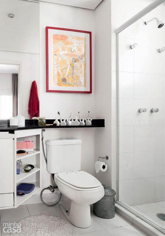 banheiro  baños  Pinterest  Vaso de porcelana, Banheiros e Reforma casa -> Banheiro Pequeno Alugado