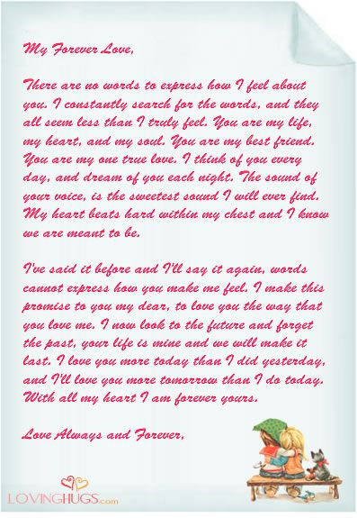 Love Letter  Love Letter Template Word