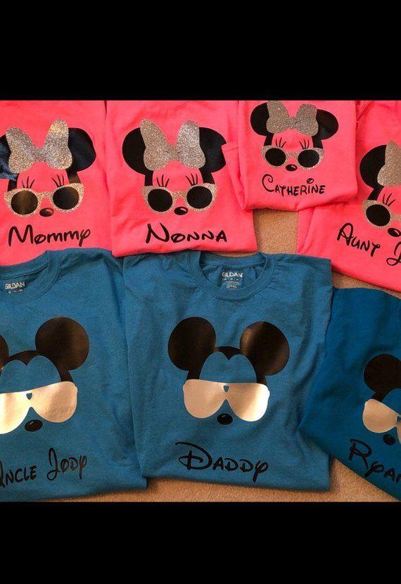 495ca120 Disney Iron on Vinyl, Iron on Decals, Disney Decals for Shirts, Disney  World Family Shirts, Disney I