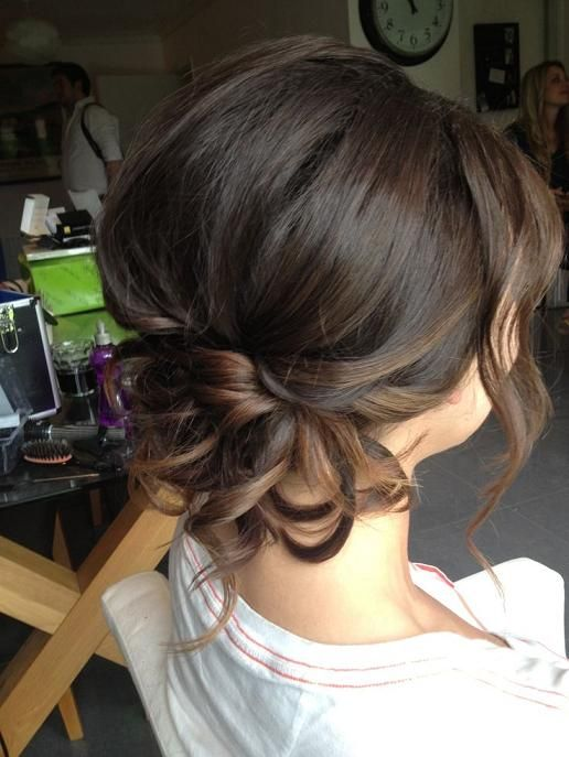 Cute Bridesmaid Updo - Hairstyles How To | Hairstyles | Pinterest ...