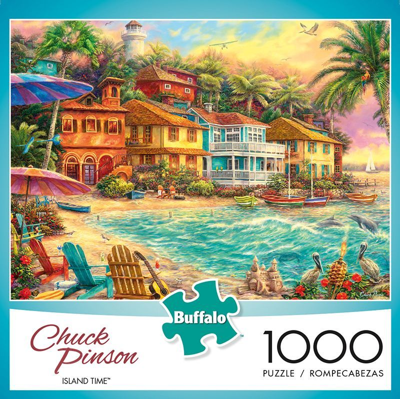 Chuck Pinson Island Time 1000 Piece Jigsaw Puzzle  Buffalo Games