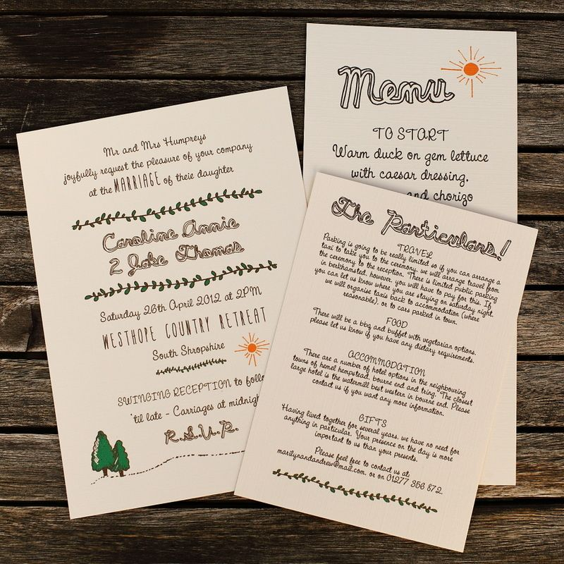 Artcadia Vintage Recycled and Letterpress Wedding