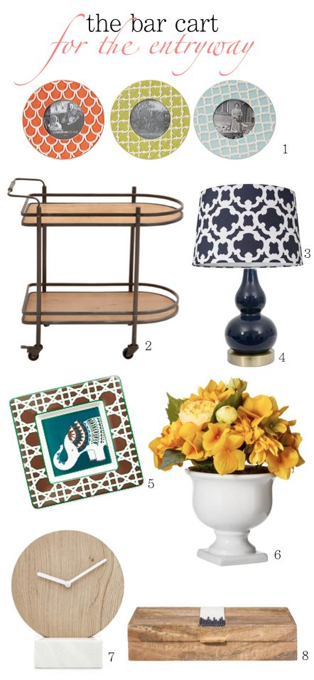 How to style a bar cart for an entryway