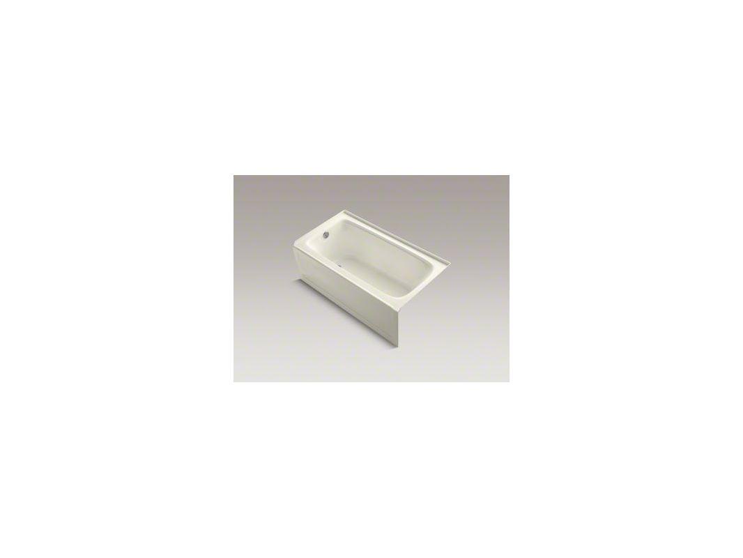 "Kohler K-1151-VBLA Bancroft 60"" Alcove Soaking Bath Tub with Left Drain Black Black Tub Soaking Alcove"