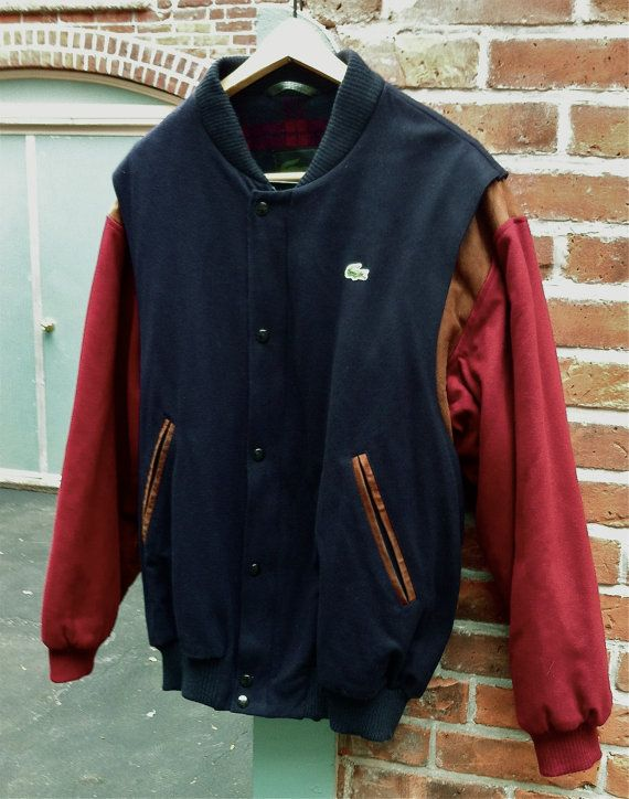f32457ef8d6a vintage men s Lacoste varsity jacket by expvintage on Etsy