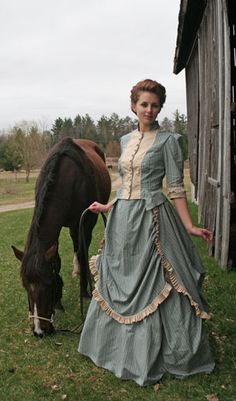 Civil War Victorian Cotton Ball Gown Day Dress Reenactment 187 XL | eBay - Visit to grab an amazing super hero shirt now on sale! Description from pinterest.com. I searched for this on bing.com/images #dressesfromthesouthernbelleera