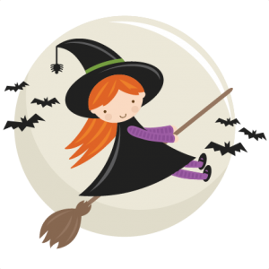 cute flying witch svg cut file halloween svg cut files halloweeen scal cutting files free svg - Cute Halloween Witches