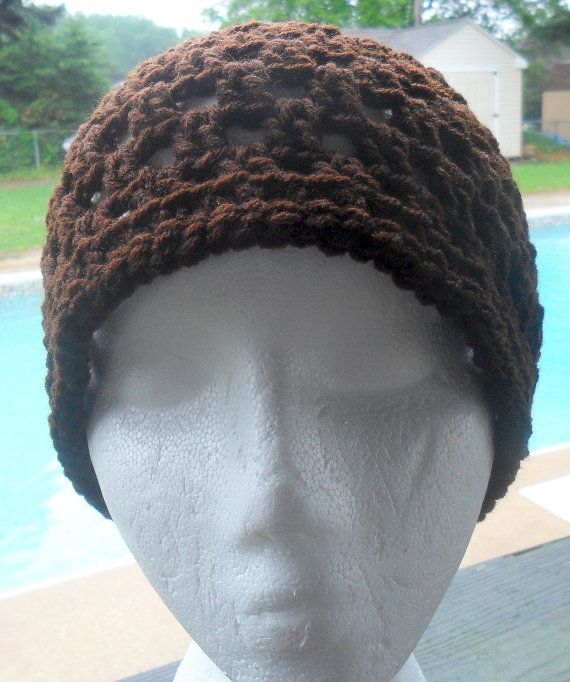Filet Crochet Beanie  Unisex  WILL MAKE to ORDER by HahnMade,