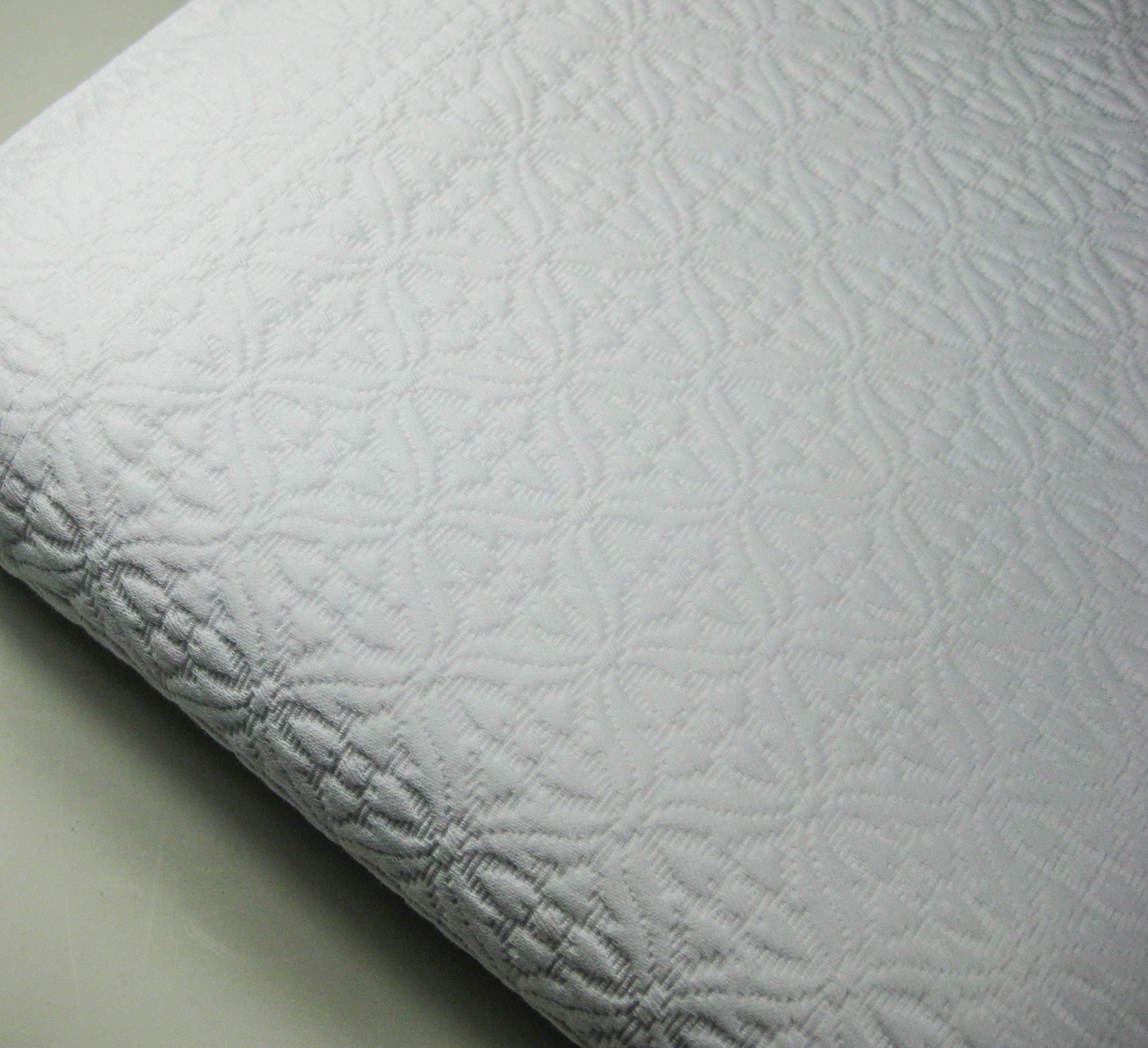 Amazon.com   White Queen Matelasse Coverlet Bed Cover Woven 100% Cotton  Made In