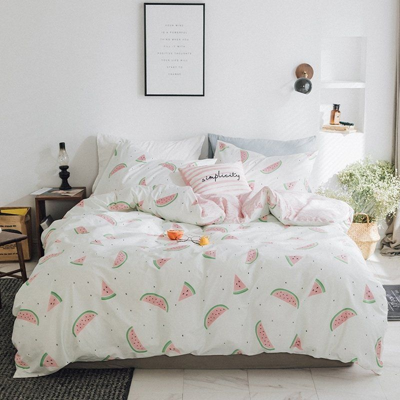 funky pink green and white watermelon print modern chic unique full rh pinterest com