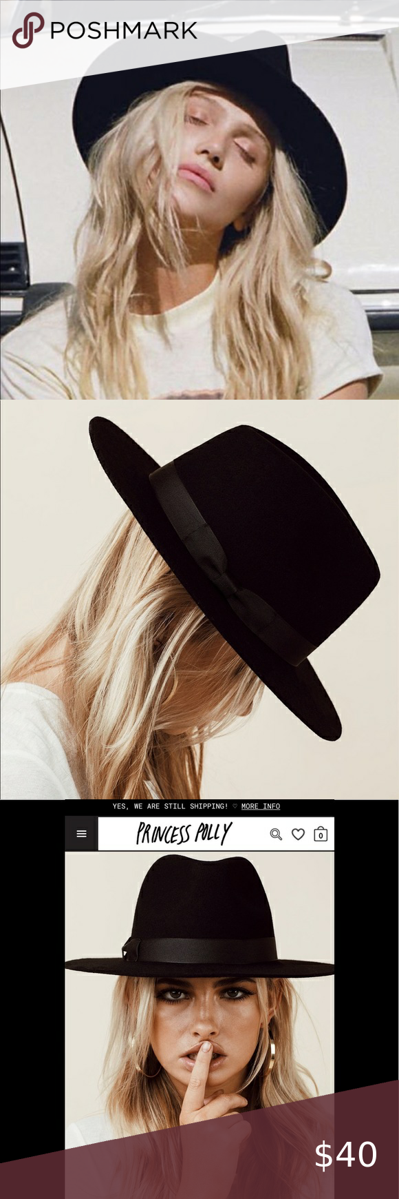 LACK OF COLOR THE MIDNIGHT MUSE II FEDORA NWT. From