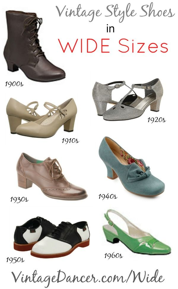 Buy Wide Shoes 1920s 1930s 1940s 1950s Styles