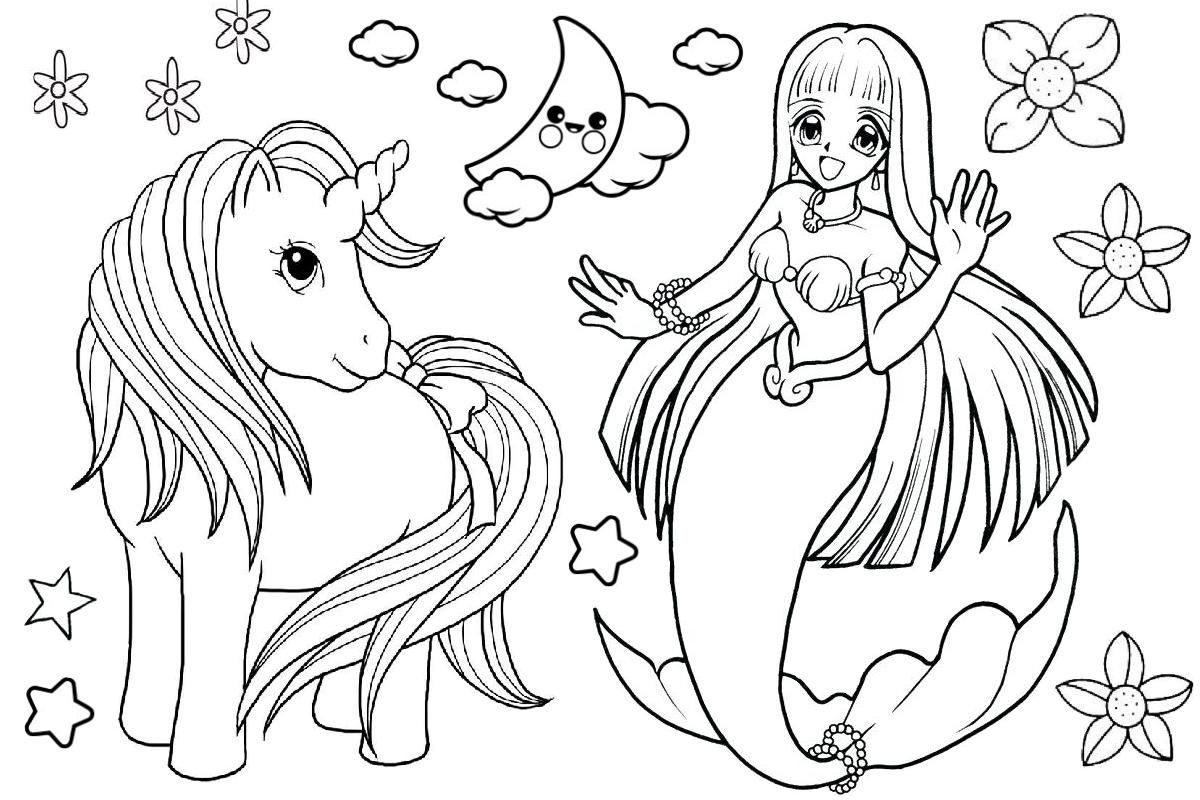 Awesome Coloring Page Mermaid Unicorn that you must know ...