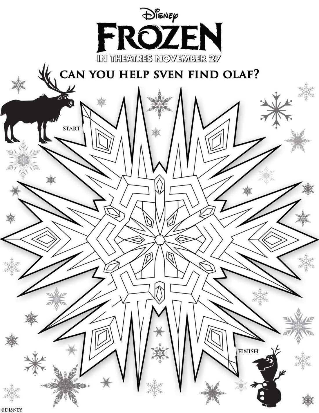 Free Disney Frozen Coloring Sheets and Activities - I am a Disney ...