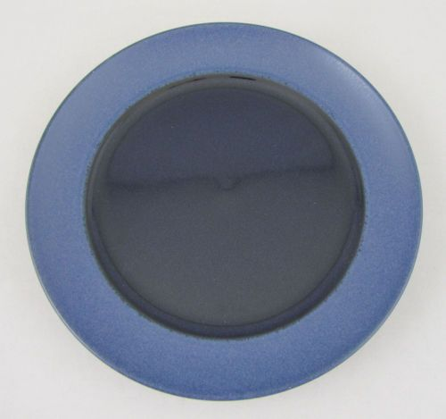 Dansk Salad Plate Tera Blue Studio Levien Collection Matte Blue Rim Gloss Center | eBay